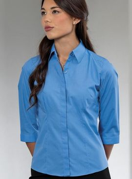 Russell Women's 3/4 Sleeve Poplin Shirt