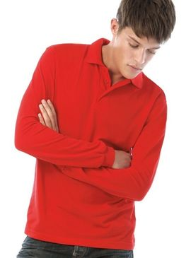 B&C Safran Long Sleeve Polo Shirt
