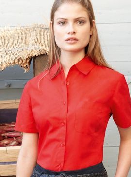 Fruit Of The Loom Ladies Poplin Shirt