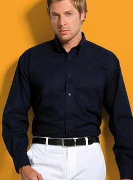 Kustom Kit Workwear Long Sleeve Oxford Shirt