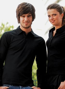 Skinni Fit Long Sleeve Polo Shirt