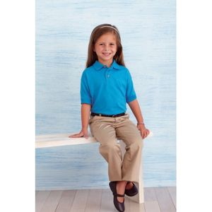 Kids Gildan Dry Blend Jersey Polo Shirt