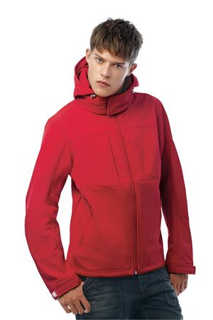 B&C Mens Hooded Softshell Jacket