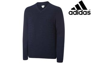 Adidas Performance textured V-Neck Sweater