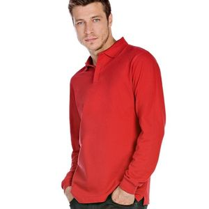 B&C Heavymill Long Sleeve Polo Shirt