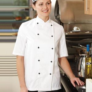 Denny's Short Sleeve Lightweight Chef's Jacket