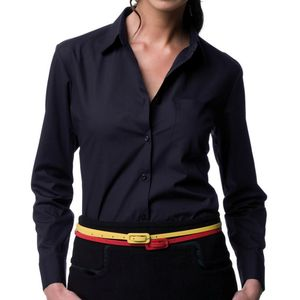 Russell Collection Ladies Easy Care Poplin Shirt