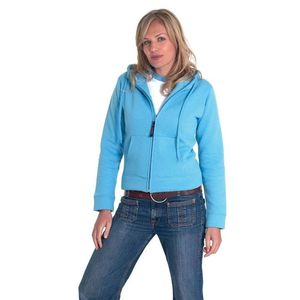 Uneek Ladies Full Zip Hooded Sweatshirt
