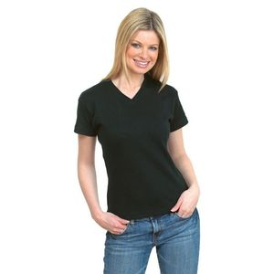Uneek Ladies V-neck Fitted T-Shirt