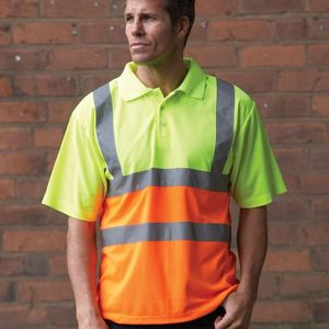 Yoko Hi-Vis Short Sleeve Polo Shirt