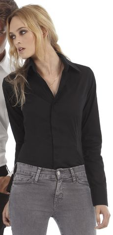 B&C Ladies Milano 3/4 Sleeve Poplin Shirt